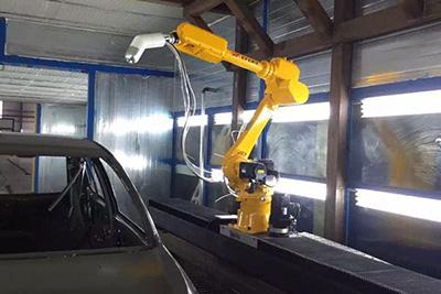 弘大HDA系列静电喷枪配套机械手臂喷涂